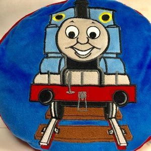 Thomas the Tank Train Plush Throw Pillow RARE